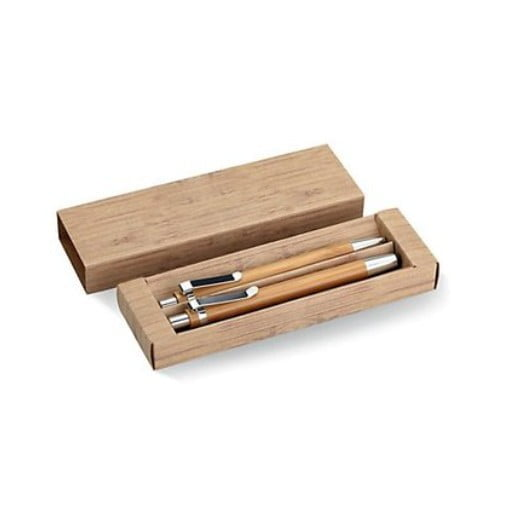 pen and pencil set made from bamboo