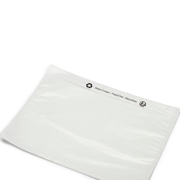 an empty eco friendly see through envelope