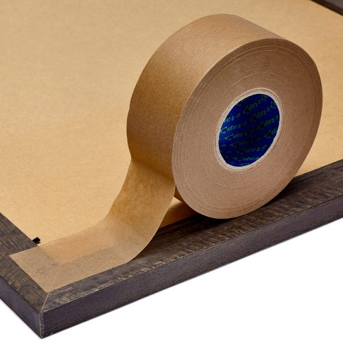 a 50 meter roll of eco-friendly kraft packaging tape