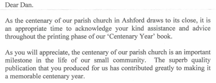 a letter written by priest fr eamonn crossan